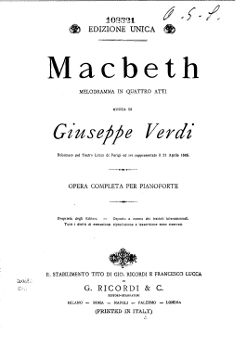 Macbeth Partitúra
